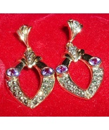 925 Sterling Silver Genuine Amethyst Earrings G... - $10.95
