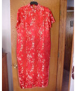 Ladies NWOT Small Size Oriental Dress Red & Gold  - $15.00