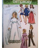 Simplicity 9097 OOP Vintage 70s Barbie Doll Pat... - $9.95