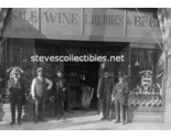 Buy Photographs - c.1910 ANAHEIM California HALL-WALLS LIQUOR STORE Photo