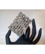 Bracelet Bangle Wide Stretchy Shiny Sparkly Sil... - $7.99
