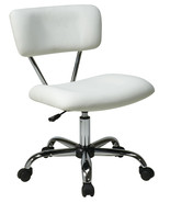 Vista Task Chair WHITE Vinyl Desk Task Swivel O... - $89.99