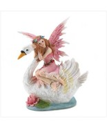 Swan and Winged Fairy Statue Coin Money Bank - $10.56