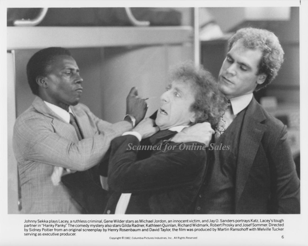 Hanky Panky Johnny Seka Gene Wilder 8x10 Photo 1264025