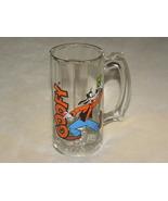 Disney Mug Glass Goofy Ribbed Vintage - $9.99