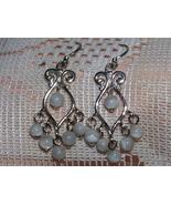 Sterling Silver Cat's Eye Chandelier Earrings - $8.00