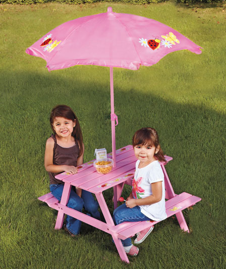 Pink Patio Umbrella, Fringed Patio Umbrellas