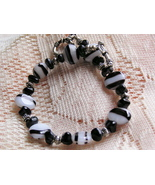 Handcrafted Czech Glass and Silver Bracelet  - $9.00