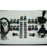 Arcade LED MAME 2 Player USB Kit w/ 2 Joysticks... - $75.00