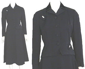 1940s Vintage Gabardine Dress Suit  :  gabardine suit gabardine vintage clothing vintage suit