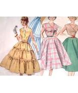 2 Vtg 50s Rockabilly Swing Dress Sewing Patter... - $12.00