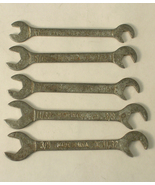 Small Angle Open End Wrenches x5 Made In USA - $15.00