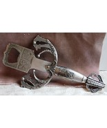 Ornate Pewter Sword Hilt Bottle Opener, Used