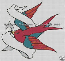 Bead Pattern Dove Bird Loom Stitch Tattoo Desig... - $0.00