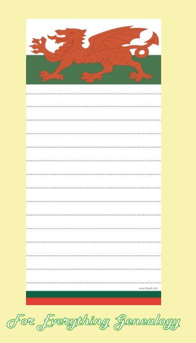 Welsh Dragon Flag Themed Magnetic Pad Notebook
