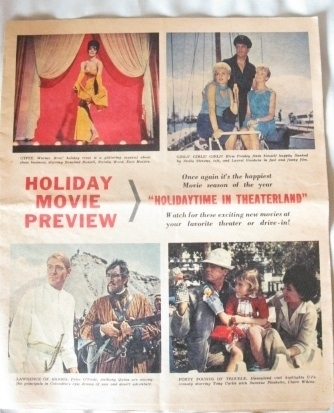 1962 Elvis MOVIE PREVIEW John Wayne- Bob Hope -Lucille Ball -Holiday Ad Print