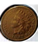 1883 INDIAN HEAD CENT - BRONZE Issue - EARLY DA... - $22.50