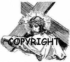 Christ-Carrying the Cross New Mounted Rubber Stamp