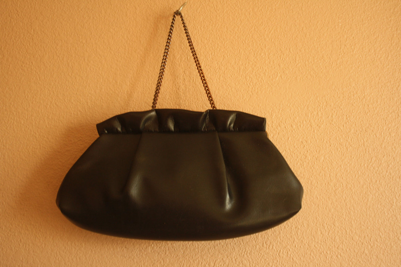Vintage Brown Handbag Small Purse Clutch Bag