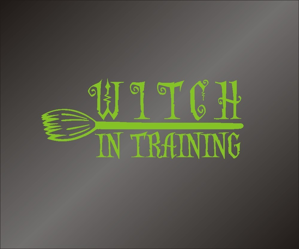 Witch In Training - Vinyl Decal Sticker - FREE SHIPPING