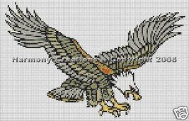 Bead Pattern Eagle in Flight Loom Stitch Tattoo... - $0.00