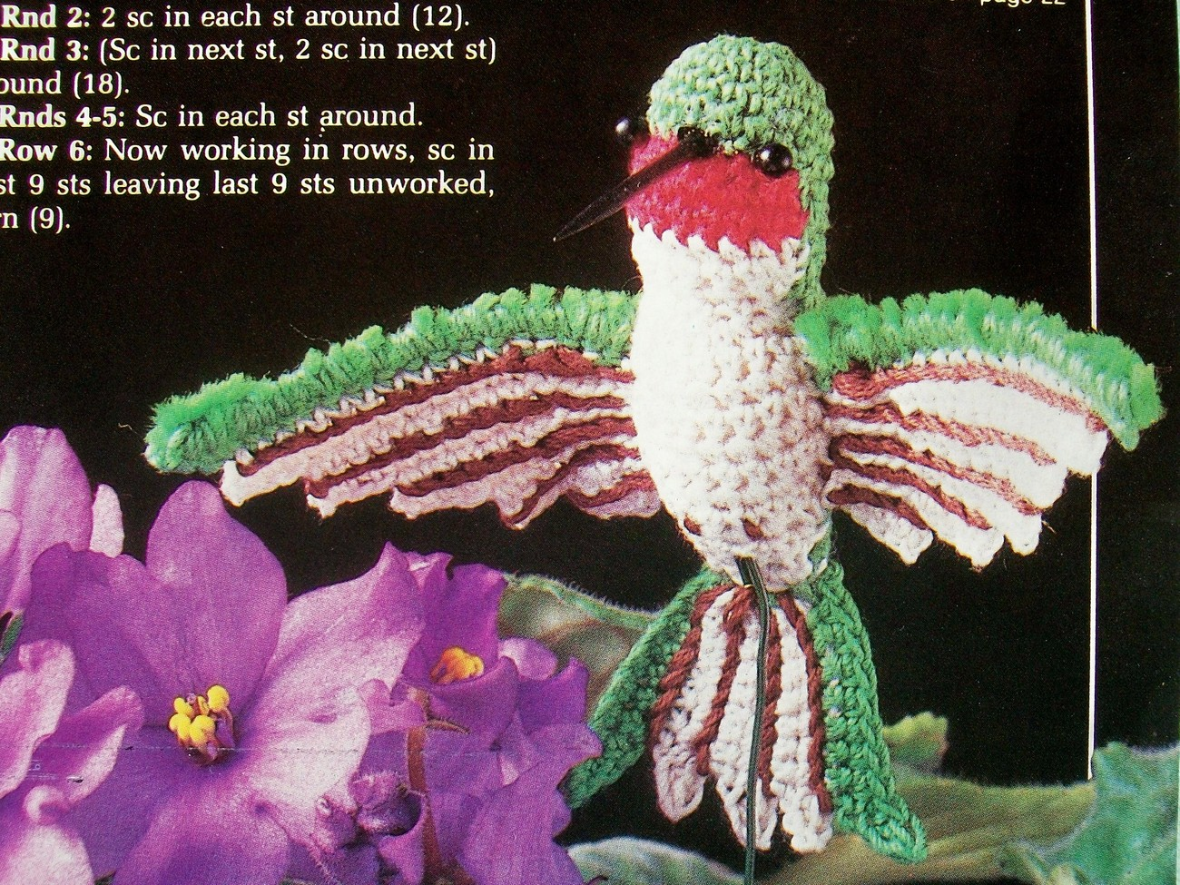 Amigurumi Hummingbird Pattern : Humming Bird, Beautiful HTF Hummingbird, Soft Sculpture ...