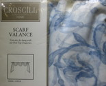 Buy Window Treatments - Croscill Home Sierra Sheer scarf valance blue floral white