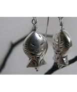 Hill Tribe Silver Fish Earrings RKS26 - $20.00