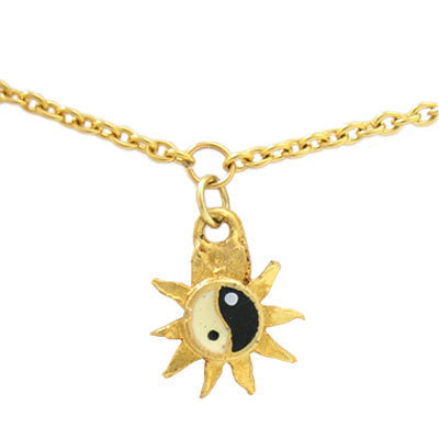 14k Gold Plated Belly Chain with Ying Yang Charm - BC1