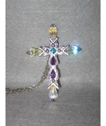 Aurora Borealis Jeweled Rhinestone Cross - $40.00