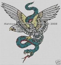 Bead Pattern Eagle & Snake Loom Stitch Tattoo D... - $0.00