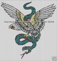 Bead Pattern Eagle & Snake Peyote Stitch Tattoo... - $0.00
