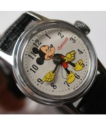 1960's Ingersoll Mickey Mouse Silver Watch - Mint - $200.00