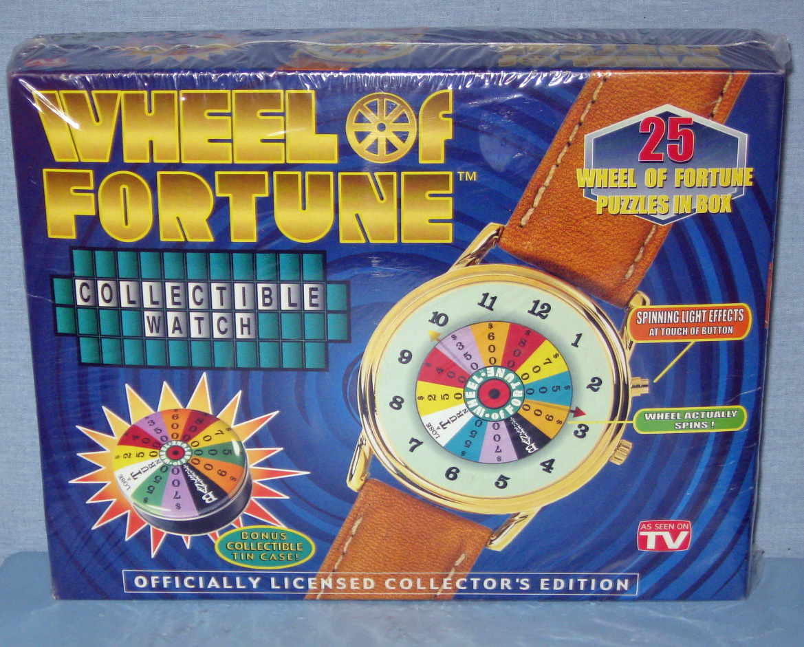 Watch - Stem Wind - Wheel of Fortune Collectible - New - Certificate - 1999