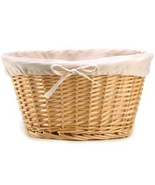 Large Oval Wicker Basket with Fabric Lining  - $26.00