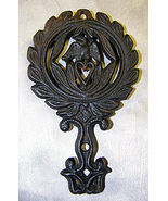 Eagle and  Heart Cast Iron Trivet Vintage Ameri... - $15.99