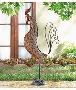 Rooster Statue Yard Garden Art Iron Metal Sculp... - $32.00