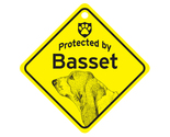 Buy Gifts and Collectibles - Basset Protected By Dog Sign and caution Gift