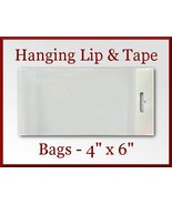 50 Cello Hanging Lip and Tape Bag 4 x 6 in - Se... - $5.48