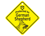 Buy Gifts and Collectibles - German Shepherd Protected By Dog Sign and caution Gift