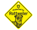 Buy Gifts and Collectibles - Rottweiler Protected By Dog Sign and caution Gift