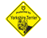 Buy Gifts and Collectibles - Puppy Cut Yorkie Protected By Dog Sign and caution Gift
