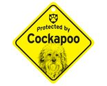Buy Gifts and Collectibles - Cockapoo Protected By Dog Sign and caution Gift