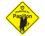 Buy Gifts and Collectibles - Papillon Protected By Dog Sign and caution Gift