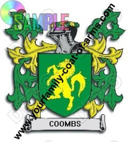 COOMBS Family Crest Coat of