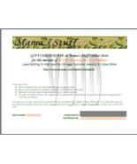 Mama's Stuff $75.00 Gift Certificate - $75.00