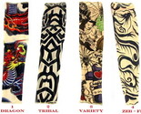 Buy Beauty - Set of 4 Tattoo Sleeves Halloween Apparel Health & Beauty