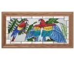 22x11 Stained Glass MACAW Parrot Wall Hang Suncatcher