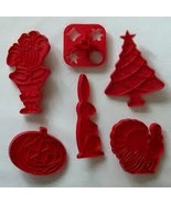 6 HOLIDAY Fun Shaped COOKIE CUTTERS Tupperware - $9.99