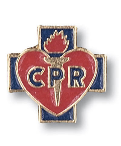 CPR Red Cross Lapel Pin Tac Medical insignia EMT New